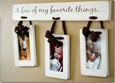 wall hangings, grandparent gifts, craft, gift ideas, favorit thing, picture displays, picture frames, christma, kid