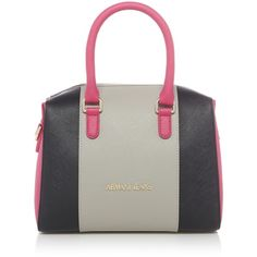 bb4bfc360d84 Armani Jeans Saffiano Medium Tote Bag ( 205) ❤ liked on Polyvore featuring  bags,