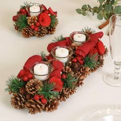 Winter Roses Christmas Tealight Candle Holder by Dibor, the perfect gift for Explore more unique gifts in our curated marketplace. Christmas Candle Decorations, Christmas Candle Holders, Candle Holder Decor, Christmas Tea, Christmas Wreaths, Christmas Ornaments, Deco Table Noel, Tea Light Candles, Holiday Crafts