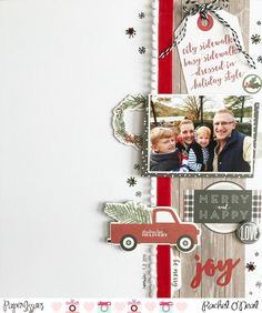 Merry and Happy layout for Paper Issues for Scraplift Sunday