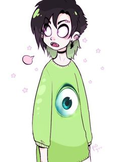 anime, green, south park, vampire, pastel goth, green, light, pink, and scene image