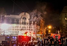 January 3, 2016 IRANIAN STUDENTS' NEWS AGENCY The Saudi Embassy in Tehran was set on fire during a demonstration on Saturday against the execution of Sheikh Nimr al-Nimr.
