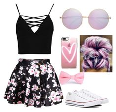 """Untitled #5"" by j-j-j-j-j on Polyvore featuring WithChic, Boohoo, Casetify and Converse"