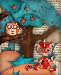 Applewood Knoll - Adorable Nursery Wall Art Decor by Christi Brown
