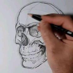 Dark Art Drawings, Tattoo Design Drawings, Pencil Art Drawings, Realistic Drawings, Art Drawings Sketches, Drawing Heads, Drawing Art, Sketch Head, Academic Drawing