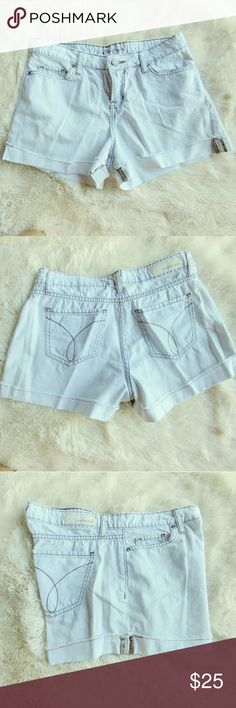 Calvin Klein Shorts Washed Out Denim Shorts by Calvin Klein Jeans. 100% cotton Calvin Klein Jeans Shorts Jean Shorts