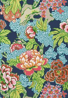 HONSHU, fabric & wallpaper Navy, Collection Dynasty from Thibaut Asian Wallpaper, Navy Wallpaper, Wallpaper Online, Painting Wallpaper, Bathroom Wallpaper, Trendy Wallpaper, Fabric Wallpaper, Chinese Wallpaper, Beautiful Wallpaper