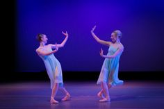 """Madison Ballet's Annika Reikersdorfer and McKenna Collins in """"Mandolin Amble"""" by Nikki Hefko - part of Repertory 1, Jan 31-Feb 1, 2014 by Brian Jamie Photography"""