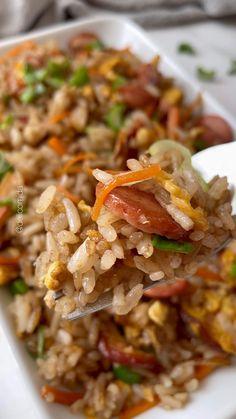 Seasoned Rice Recipes, Veggie Recipes, Cooking Recipes, Healthy Recipes, Comida Diy, Little Lunch, Deli Food, Peruvian Recipes, I Love Food