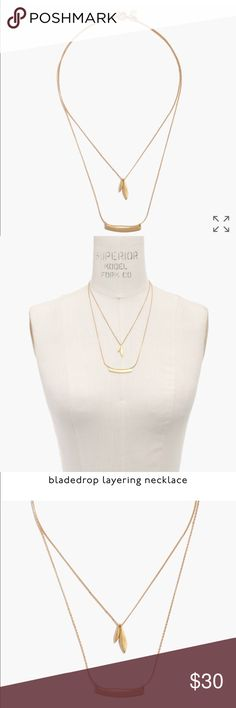 Madewell necklace This is the bladedrop layering necklace. Offers welcomed 👍 Madewell Jewelry Necklaces