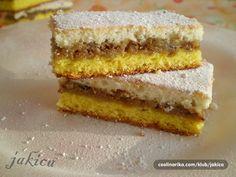 Ovaj kolač je kod mene neizostavan za razna slavlja,okupljanja i slične prigode.Jednostavan za napraviti-sve se skupa peče,a prilično izdašan…..............za ljubitelje osvježavajućih kolača sa limunom:)) Baking Recipes, Cookie Recipes, Dessert Recipes, Desserts, Homemade Sweets, Homemade Cookies, Old Fashioned Nut Roll Recipe, Kolaci I Torte, Torte Cake