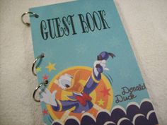 Birthday Guest Book Donald Duck Party Sign in Book by ljbminis2021