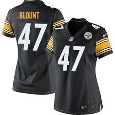 Nike Limited Mel Blount Black Women's Jersey - Pittsburgh Steelers #47 NFL Home