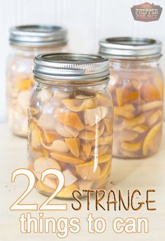 Canning Strange Interesting Foods for Food Storage Homesteading  - The Homestead Survival .Com