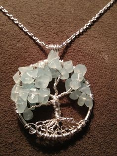 Chalcedony Tree of Life Hand Wire Wrapped by Just4FunDesign, $25.00
