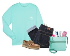 """""""ready set lets roll, ready set lets ride"""" by ellapearlrose ❤ liked on Polyvore featuring Lilly Pulitzer, Paige Denim, Essie, Sperry Top-Sider, Bobbi Brown Cosmetics, Kate Spade and Majorica"""