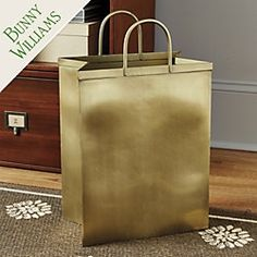Bunny Williams Shopping Bag Waste Bin