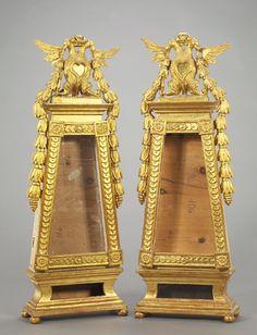 Striking Austrian Carved Giltwood Tabletop Vitrine, in the n