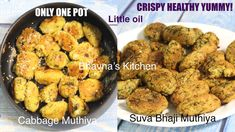Bhavna's Kitchen, Kitchen Living, Gujarati Cuisine, Tea Time Snacks, Ground Coriander, Red Chili Powder, Air Fryer Recipes, Cabbage, Vegetables
