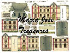 "Vintage D'Epinal Pellerin French ""Maison de Plaisance"" Paper Cut Outs - Digital Download by MariaJoseTreasures on Etsy"