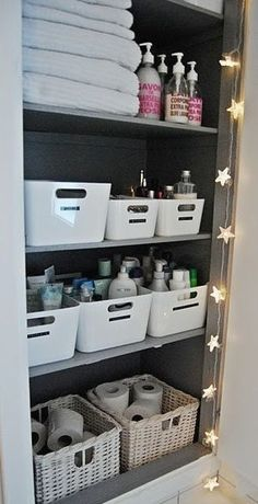 Squared Away: The Bathroom - get your bathroom into shape by organization and creating more storage.