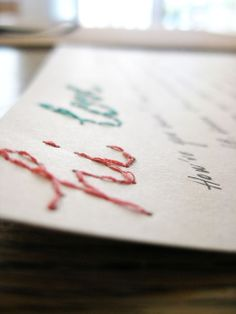 23 Delight: STITCH YOUR OWN STATIONERY! - cute idea for stationery or cards