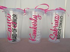Hey, I found this really awesome Etsy listing at https://www.etsy.com/listing/166953148/personalized-bridal-party-tumblers