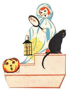 A Vintage Halloween Retro Halloween, Holidays Halloween, Spooky Halloween, Happy Halloween, Halloween Ideas, Halloween Designs, Halloween Projects, Halloween Stuff, Vintage Halloween Images