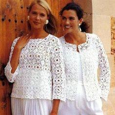 4 crochet sweaters models with the same motif - Free Pattern | Yarn Crochet | Free Pattern