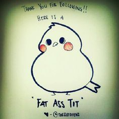 "@The Sutefeni's photo: ""I #love you guys and thank you for your support! #art#illustration#sketch#doodle#cute#adorable#red#kawaii#bird#tit#titty#boob#weiner"""