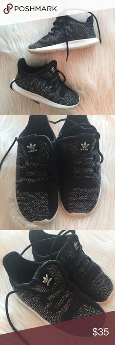 """Adidas Black Tubular Shadow 9 Shoes Sneaks Yeezys Such a cute pair of shoes and unfortunately my son did not get to wear them many times. However the times he did we always received tons of comments. These are the Adidas """"tubular"""" style which closely resembles yeezys. Size 9. Box included. adidas Shoes Sneakers"""