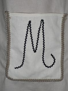 Peasant Dress with 'YOUR' Initial pocket  Linen  by BoutiqueMia, $40.00