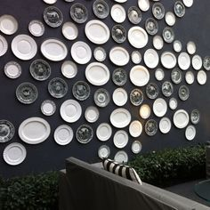 wall with plates viceroy santa monica - Google Search