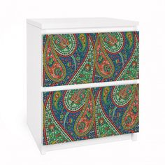 #ikea #hack #Paisley #Design #malm #furniture #decal https://www.yourdecoshop.com/en/shop/design-furniture-living-accessories/ikea-hacks/furniture-decals-for-malm-dresser/malm-with-2-drawers/