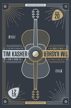 A new Grain and Mortar poster for musician, Tim Kasher, that I got to work on with Eric Downs.