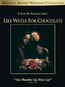 #LikeWaterforChocolate  This movie is about how life used to be in Mexico. It is a love story between Pedro and Tita, and why they coudn't get married because Tita's mother wanted her oldest daughter to get married first, and have Tita to stay and take care of her.
