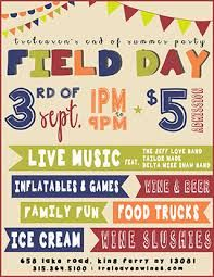 Image Result For Field Day Flyer Field Day Wine And Beer Family Fun