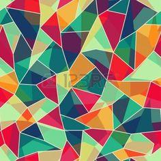 色のモザイクのシームレスなパターン