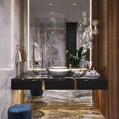 Portfolio: Villa in Moscow region Luxury Homes Interior, Home Interior Design, Beach House Decor, Home Decor, Space Furniture, Decoration, Living Room Decor, Instagram, White Bathrooms