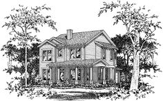 Eplans Country House Plan - Five Bedroom - 2298 Square Feet and 5 Bedrooms from Eplans - House Plan Code HWEPL74074