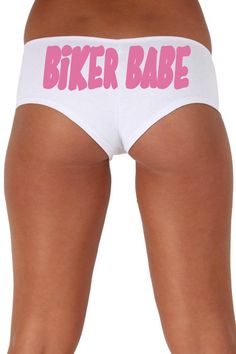 Women's Sexy Hot Booty Boy Shorts Biker Babe Round Pink Bold Style Type Lingerie