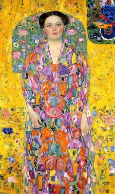Portrait of Eugenia (Mada) Primavesi Oil Painting by Gustav Klimt I would love to see inside the mind of Klimt!