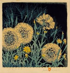 Tares, woodblock print by Gustave Baumann, 1881-1971
