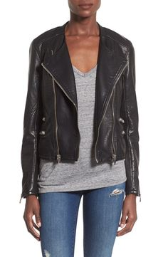 Pin for Later: 35 Stylish Items You Won't Regret Wearing on the Plane  BLANKNYC Faux Leather Moto Jacket ($128)