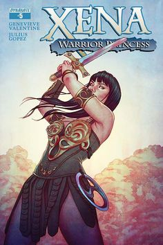 "Xena Vol. 2 #5 writer: Genevieve Valentine artist: Julius Gopez cover: Jenny Frison incentive cover: Jenny Frison (""virgin art"") FC • 32 pages • $3.99 • Teen+ The daring rescue of Chilapa and the c…"