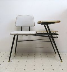 Mid Century Modern Telephone Bench by DaveysVintage