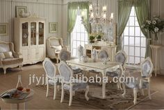 Elegant French Style Dining Room Set includes chair and dining table, the dining…