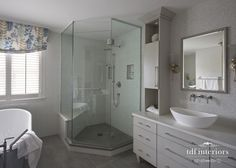 Luxurious and Tranquil Contemporary Bathroom design on Chicago North Shore Contemporary Bathroom Designs, Contemporary Style, Standing Shower, Residential Interior Design, North Shore, Double Vanity, Master Bathroom, Custom Design, Chicago