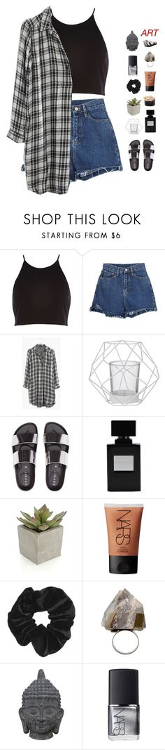 """""""you're my right hand, you're my go to"""" by chanelflowurs ❤ liked on Polyvore featuring River Island, Madewell, Bloomingville, Crate and Barrel, NARS Cosmetics, Topshop, COSTUME NATIONAL, Three Hands, Harry Allen and INDIE HAIR"""