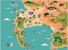 Beautiful map of cape town africa at p m